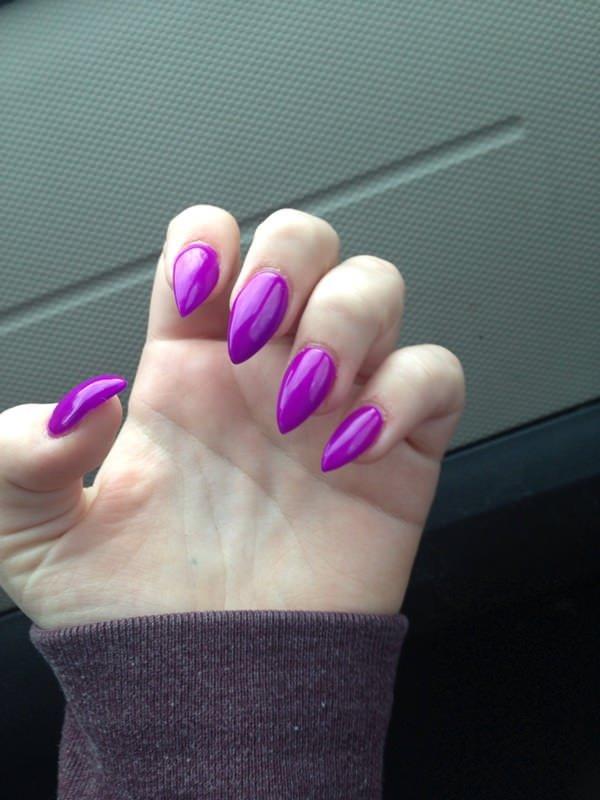 nail, finger, pink, purple, manicure,