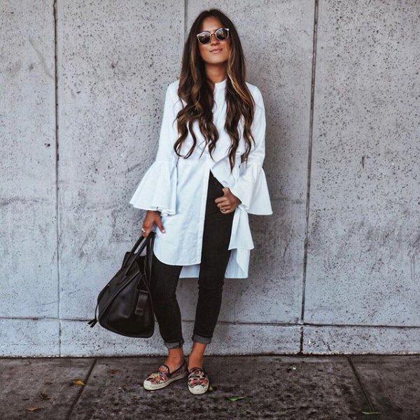 white, clothing, black, footwear, outerwear,