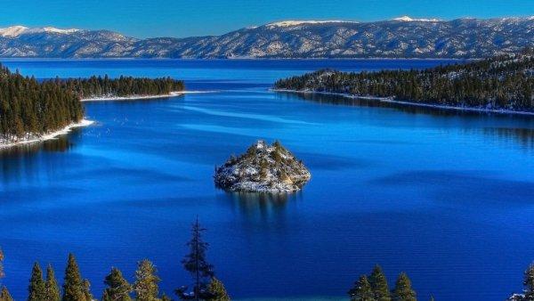 Emerald Bay State Park, lake, loch, reservoir, reflection,