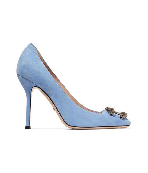 footwear, high heeled footwear, blue, shoe, basic pump,