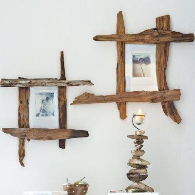 DIY Driftwood Frames