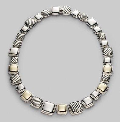 David Yurman Sterling Silver & 18K Gold Short Necklace