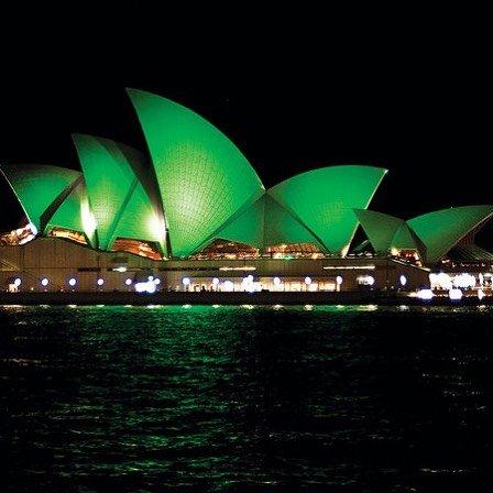 Green, Architecture, Opera house, Night, Music venue,