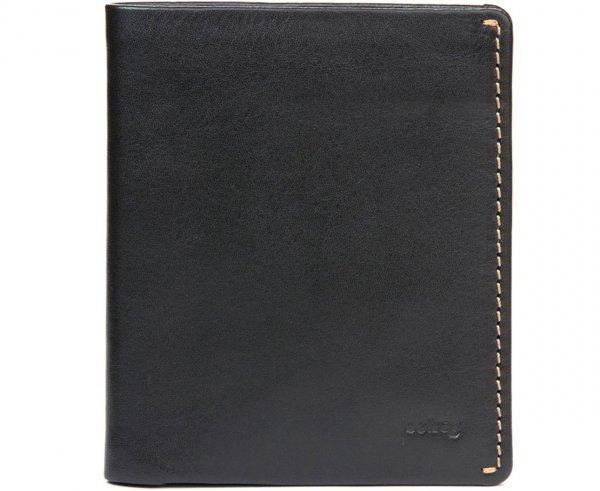 Men's Leather Note Sleeve Wallet, Black