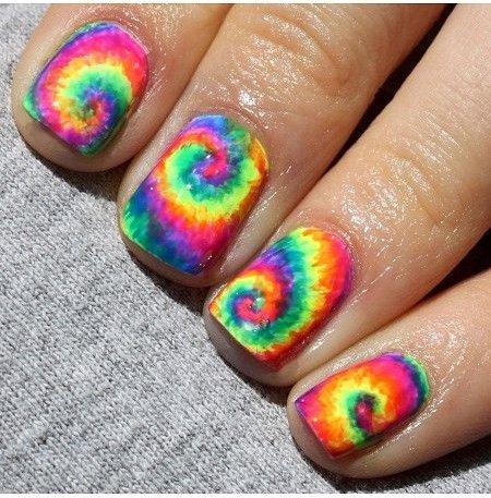 Neon Rainbow Tie Dye