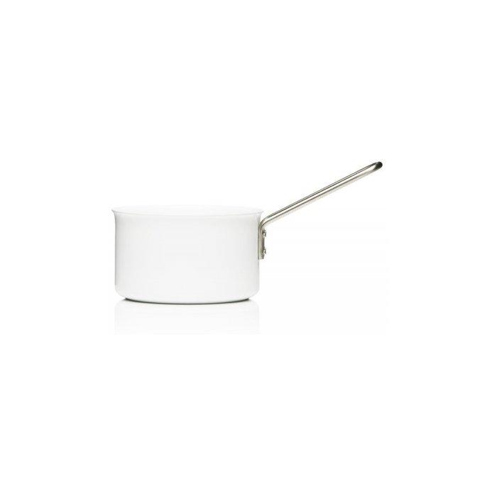 Eva Trio White Saucepan, Aluminum with Ceramic Coating