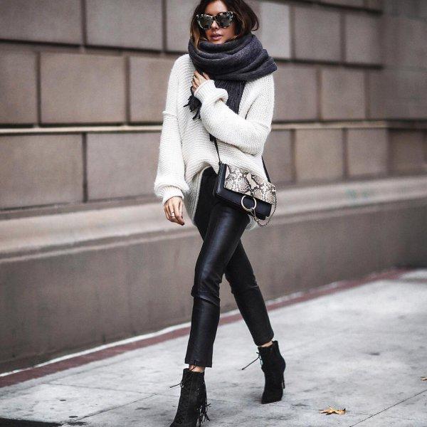 black, clothing, footwear, winter, fur,