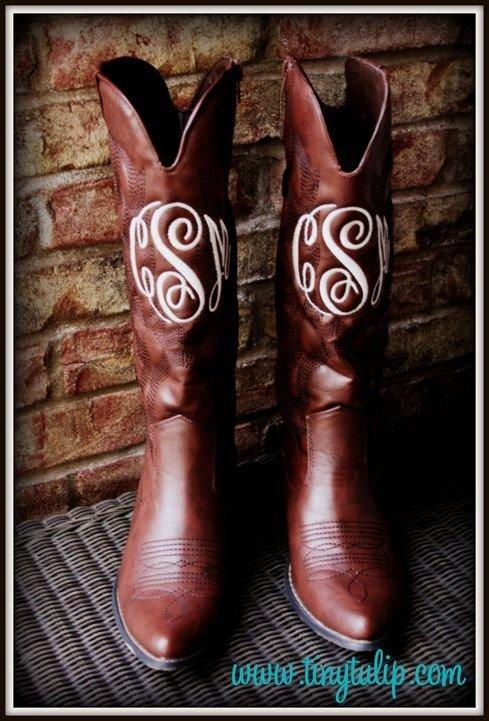 Monogrammed Cowboy Boots