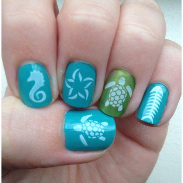 28 Really Cool Sea Creature Nail Art Patterns ... Nails