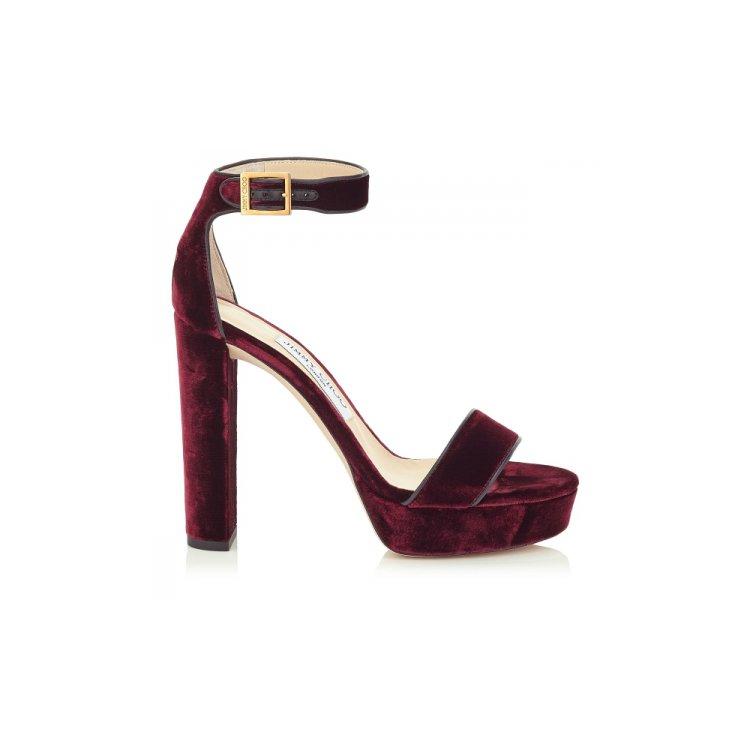 footwear, high heeled footwear, maroon, leather, shoe,