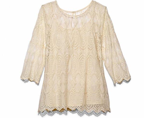 MARSHALLS White Crochet Blouse