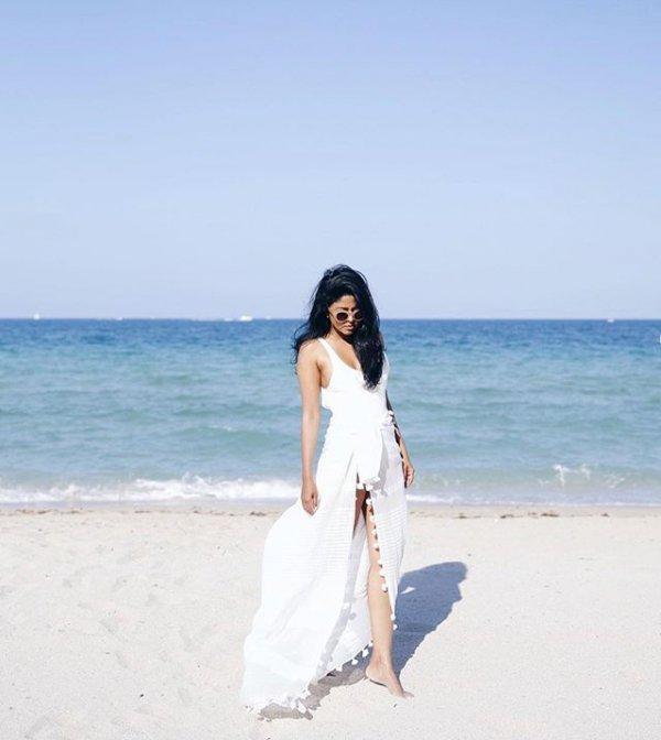 vacation, wedding dress, sea, beach, holiday,