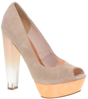 Asos Party on Peep Toe Perspex Heel Shoe