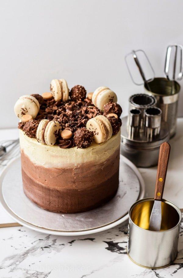 Hazelnut Espresso Cake with Hazelnut and Coffee Liqueur