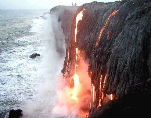 Active Volcanoes, Kona Beach, Hawaii