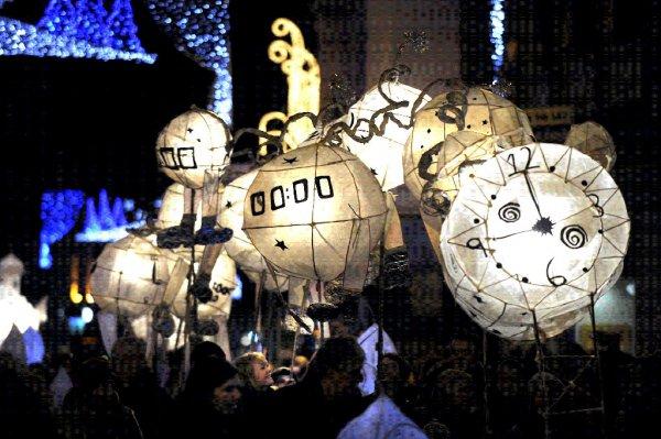 Burning the Clocks to Mark the Shortest Day in Brighton, UK