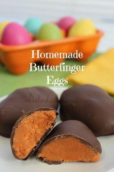 3 Ingredient Homemade Butterfinger Eggs