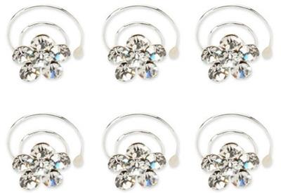 Crystal Flower Spin Pins by Tasha