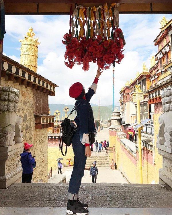 tourism, temple, travel, street, building,