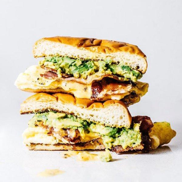 food, dish, breakfast sandwich, veggie burger, produce,