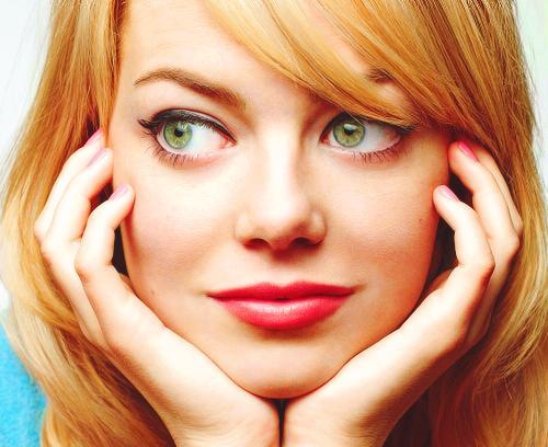 Emma Stone: Pink Lips