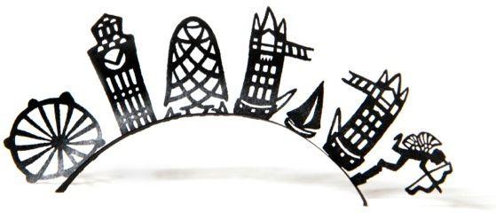 Paperself London Skyline False Lashes