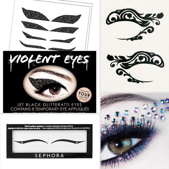 Violent Eyes Jet Black Glitteratti