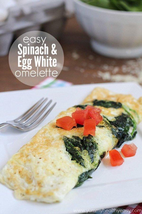 Easy Spinach & Egg White Omelet