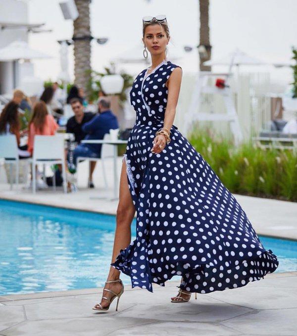 fashion model, polka dot, fashion, dress, shoulder,