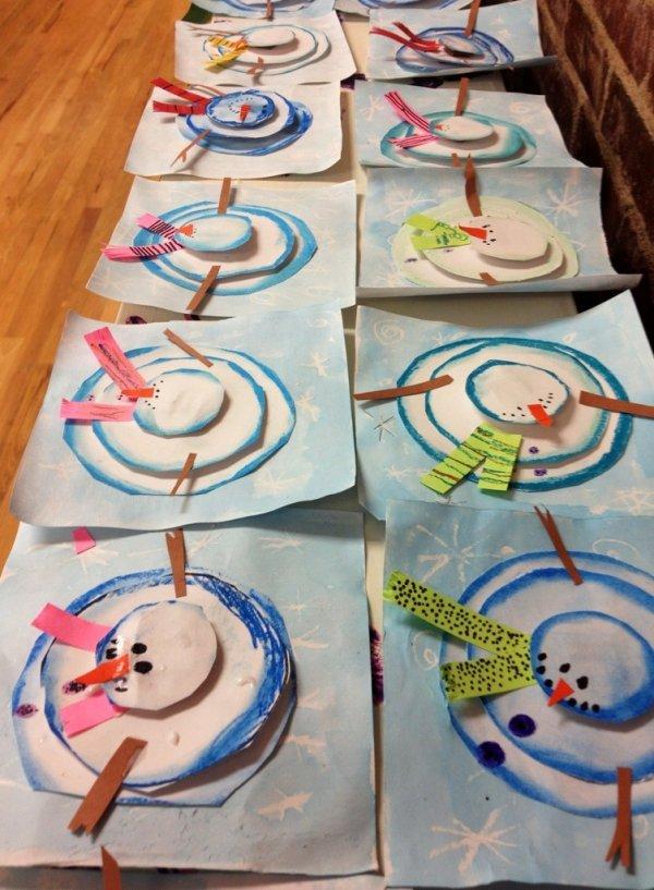 Cute Arial Snowmen