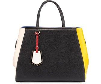 Fendi 2Jours Colorblock Shopping Tote Bag