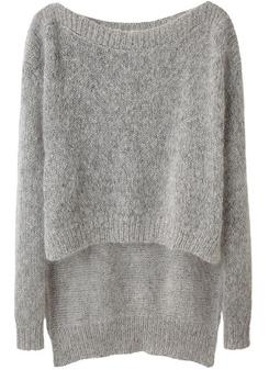 VPL Shifted Knit Pullover