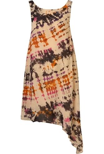 Topshop Multi Tie Dye Asymmetric Hem Dress