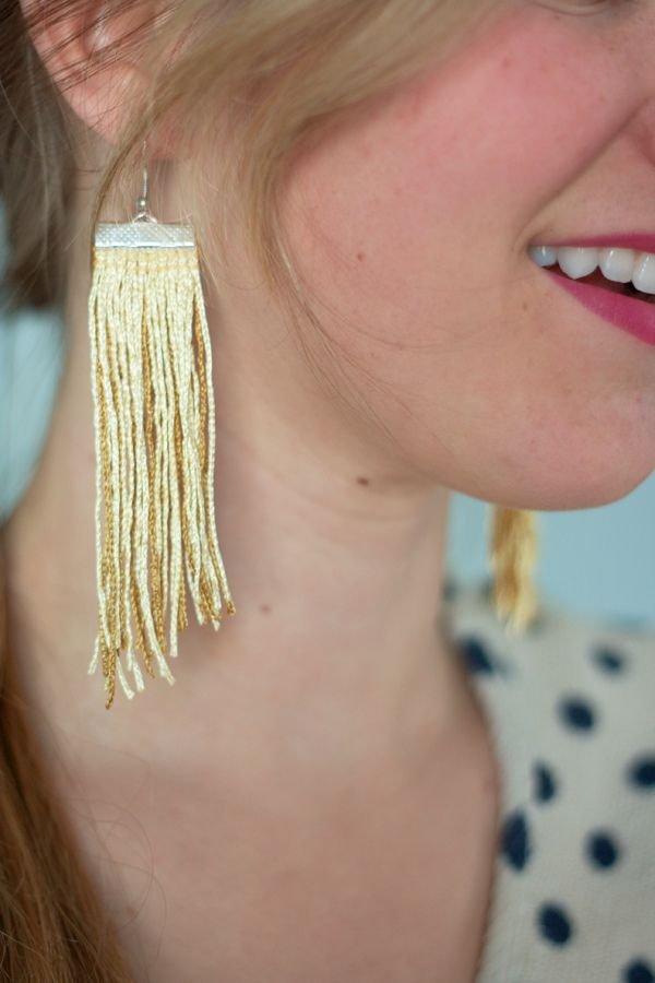 Diy Fringe Earrings Tutorial