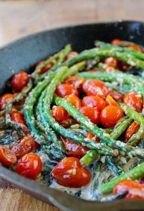 Sautéed Asparagus & Cherry Tomatoes