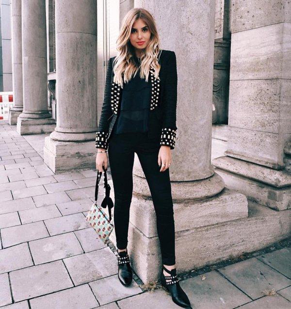 clothing, black, footwear, outerwear, pattern,