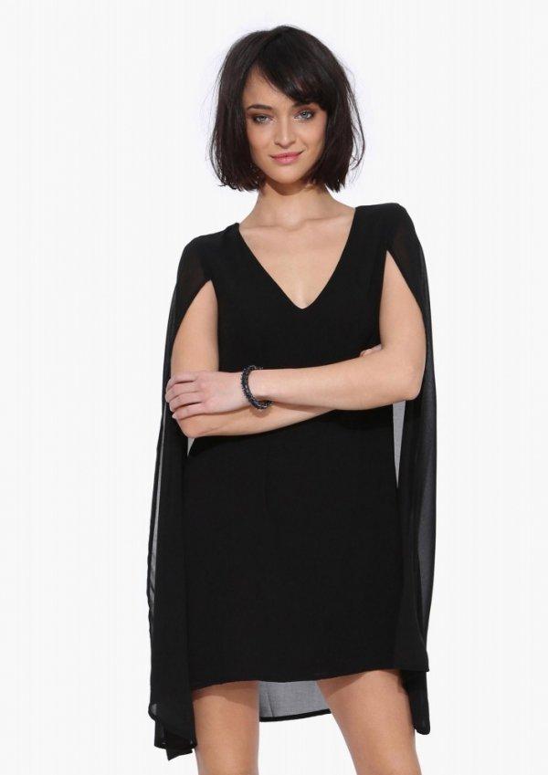 Cape Crusader Little Black Dress