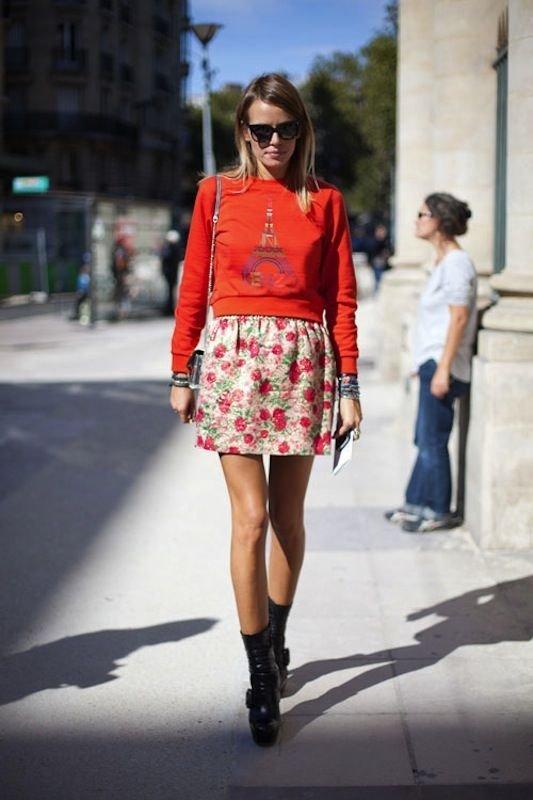 Graphic Tee + Skirt