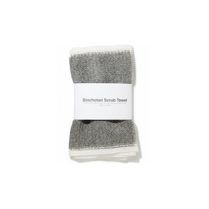 Binchotan Charcoal Body Scrub Towel by Morihata