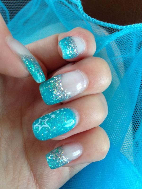nail, finger, blue, green, nail care,