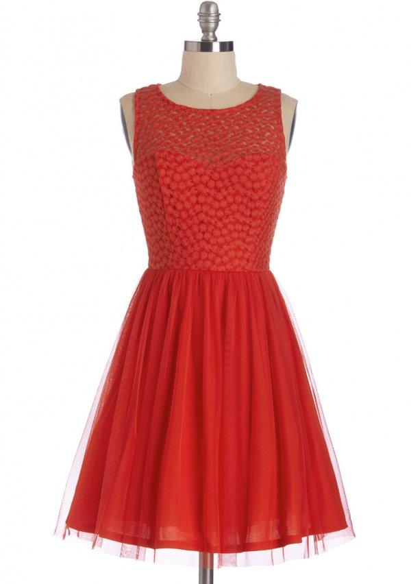Scarlet Celebration Dress