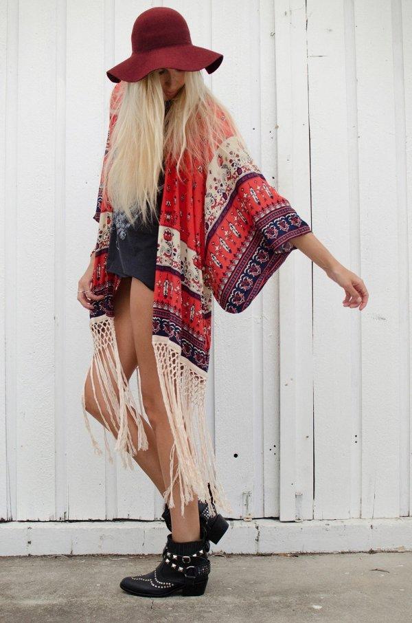 Desert Wanderer Tassel Kimono