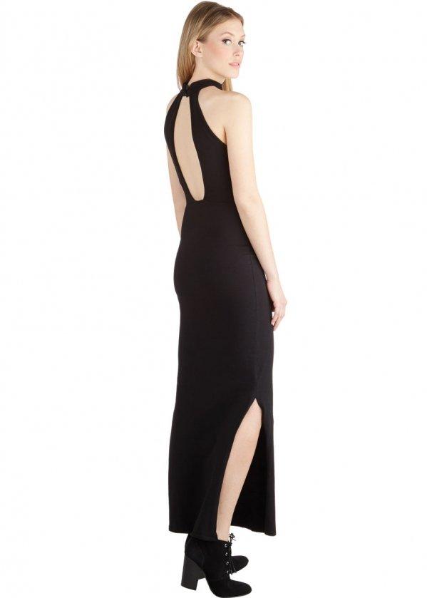 A Form Fitting Maxi Dress