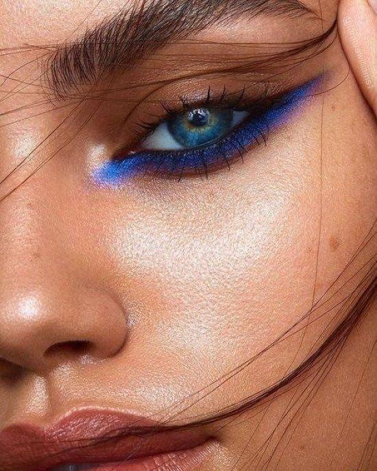 Face, Eyebrow, Blue, Skin, Eye,