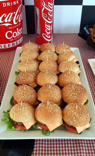 Mini Gourmet Hamburgers for a Party