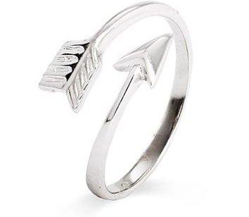 Sterling Silver Arrow Midi Ring