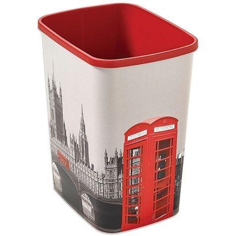 Decorative London Trash Can