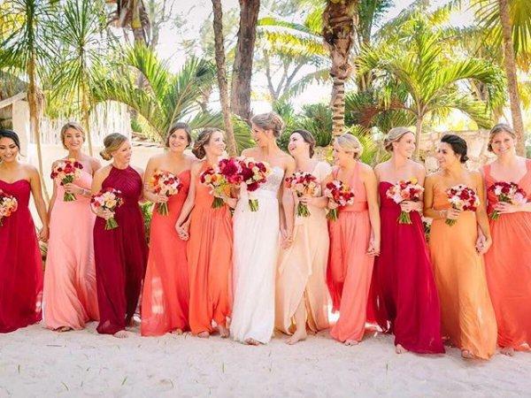bridesmaid, pink, woman, gown, bride,