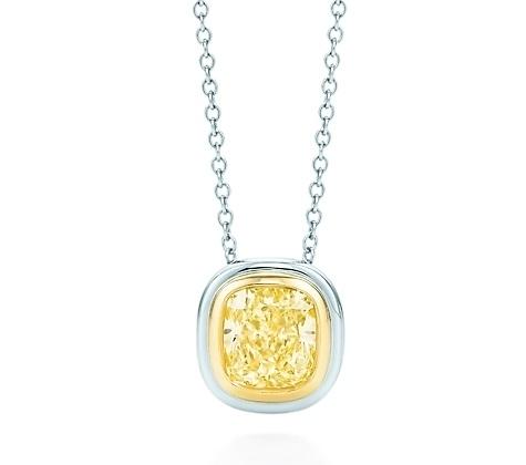Tiffany Bezet Yellow Diamond Pendant
