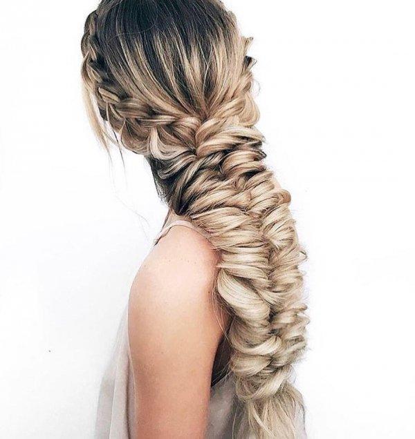 hair, hairstyle, braid, long hair, blond,